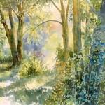 Barth-Ernest-Lumiere-dans-la-clairiere-aquarelle-45X65