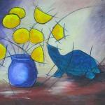 Grosse-Gisele-la-tortue-41x33-acrylique