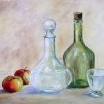 Grosse-Gisele-les-carafes-46x33-huile