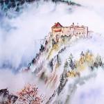 Heme-Marie-Anne-Chateau-de-Joux-dans-la-brume-50x60